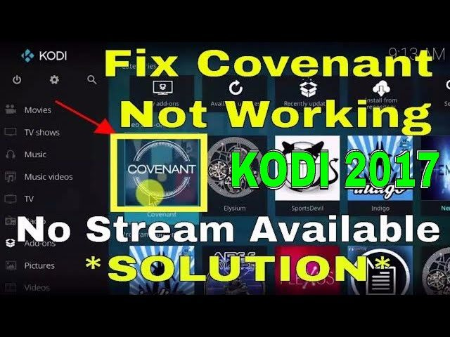 How To Fix Covenant Not Working And No Stream Available - KODI