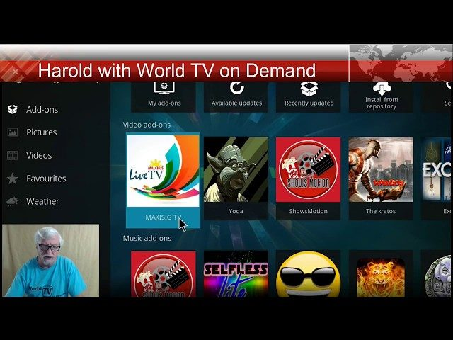 Live TV addon for Kodi new just found it today