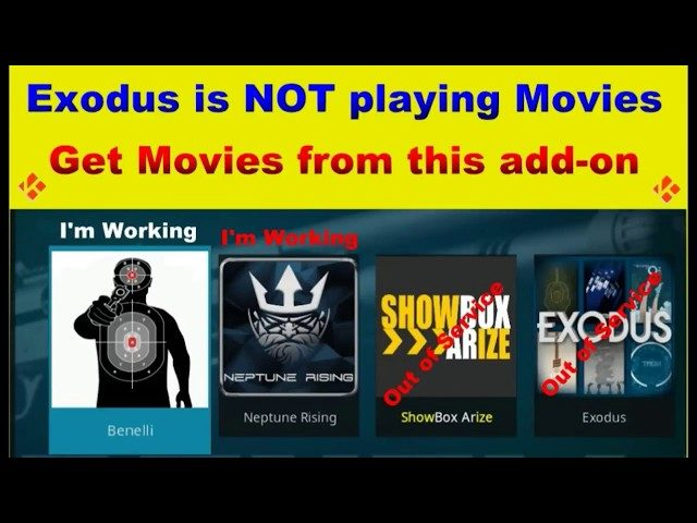 NEW Add ons to use if EXODUS is Not working for Kodi