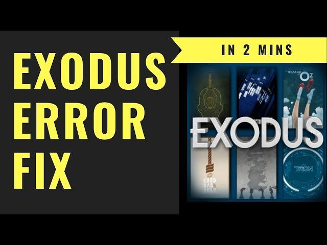 FIX NO STREAM AVAILABLE ERROR IN EXODUS IN 2 MINS (STEP BY STEP QUICK VIDEO  | Oct 2018)